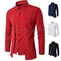 Luxury Men Casual Shirt Slim Long Sleeve Formal Business Dress Shirt T Shirt Top