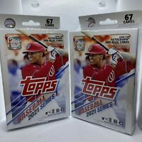 2021 Topps Series 1 Baseball Set Of Two (2) Factory Sealed Unopened Hanger Boxes