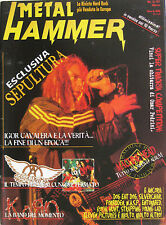 METAL HAMMER 3 1997 Sepultura Aerosmith Korn Dog Eat Dog Entombed WASP Forbidden