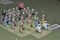 25mm medieval / saracen - infantry 30 figs - inf (12100)