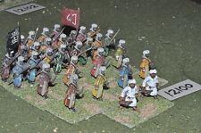 25mm medieval / saracen - infantry 30 figs - inf (12100)