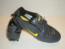 NIKE RIO FG MENS SOCCER CLEATS GRAPHITE GRAY AND YELLOW SIZE 7.5 NICE 316628-071