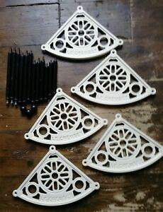 Le Creuset 5 Tier White & Black Cast Iron Pot Pan Corner Rack Stand