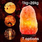 HIMALAYAN SALT LAMP Crystal Rock Natural Pink Dimmer Switch Night Light 1-20 Kgs