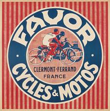 Favor Cycles & Motos Original Art Deco Vintage Poster