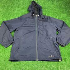Eddie Bauer Jacket Mens Small Blue Rain Hiking Light Weight Windbreaker Outdoor