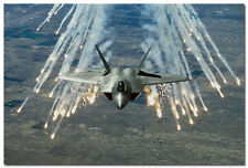 F-22 Raptor Aircraft Silk Poster 24x36inch Military Picture Wall Decor 001