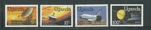 Uganda Scott # 337-340 MNH Peaceful Outer Space
