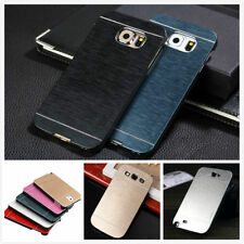 Aluminio Metal Cepillado Funda Rígida carcasa para iPhone 7 7 Plus/samsung s6 s7