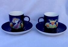 Bjorn Wiinblad 1001 Nights Rosenthal 10 Demitasse Tea Cups & Tray Set