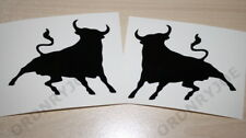 2x Black Spanish Bull sticker/decal(El toro negro)Spain