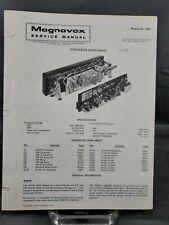 Magnavox Repair Service Parts Manual For 1972 R276 Series AM-FM Radio