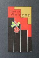 Etiquette parfum EAU DE COLOGNE rose Label French