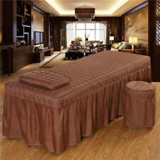 "Massage Table Skirt Sheet Pillowcase Stool Cover Beauty Linen 75x28"" Coffee"
