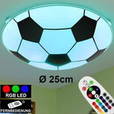 RGB LED Decken Lampe Kinder Zimmer Fernbedienung Fußball Design Leuchte DIMMBAR