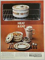1974 Print Ad Wedgewood Oven to TableWare Casseroles, Cooking Dishes New York,NY