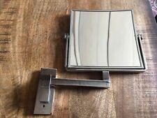 Geesa Mirror Miroir de rasage 1 bras 19x19cm et grossissant x3 chrome