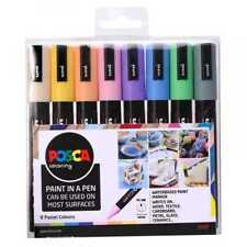 Uni POSCA Marker Pen PC-5M - Medium 2.5mm - Set of 8 Pastel Colours