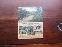 VINTAGE ADVERTISING ROCK CITY GARDENS WITH MILEAGE & ROUTE INFO FROM GATLINBURG