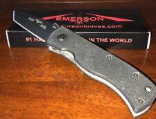 Emerson Knife MINI Black Plain Edge - Standoffs - Prestige Dealer