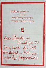 Wallis Simpson & King Edward VIII Autograph Signed Letter Duke of Windsor 1971
