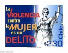 Chile 2002 #2125 La Violencia contra la Mujer es un delito MNH