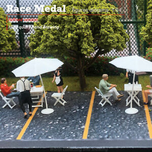The RM mini 1/64 characters hand-painted cafe attendant micro film scene model