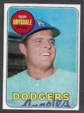 1969 Topps Don Drysdale PROOF Dodgers HOF BLANK BACK **RARE** NICE EXMT