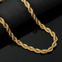 "Italian Made 4mm 14k Gold Rope Chain 20"" 24"" 30""inch"