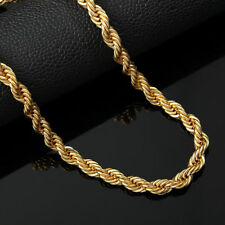 """Italian made 4mm 20"""" 24"""" 30""""inch 14k Gold rope chain"""