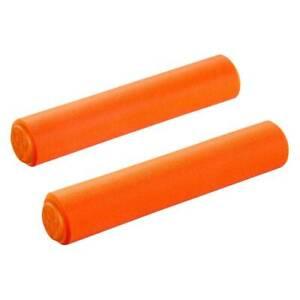 SupaCaz Siliconez XL Foam Handlebar Grips & Plugs - Lightweight XC - Neon Orange