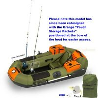 Sea Eagle Packfish 7 Deluxe Pkg Portable Inflatable Fishing Boat Raft