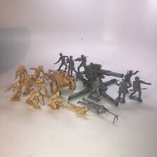 Marx, BMC Recast BATTLEGROUND Desert Fox WW2 German 88mm, Howitzer, Army MEN