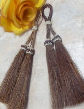 Real horsehair tassels for jewelry/Tack Sorrel horsehair tassels Show-Stoppers