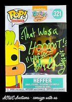 Funko POP! - Rocko's Modern Life - Heffer - Signed by Tom Kenny - Beckett