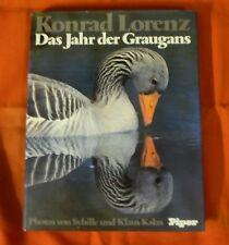 Konrad Lorenz , Das Jahr der Graugans , Piper Verlag , HC , 1979 ,