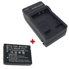 DMW-BCG10PP Battery + Charger for PANASONIC Lumix DMC-TZ6 DMC-ZS1K/ZS1S DMC-ZS3K