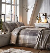 Colville Grey Check Duvet Cover Set With 2 Pillowcases Kingsize 230 X 220cm