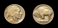 United States 1913-D Indian Head Buffalo Nickel Variety 2 Scarce Date EF-45