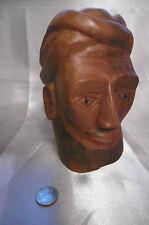 sculpture tête bédouin en bois