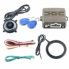 Top Universal RFID car alarm system push button start stop 2 transponder 125Khz