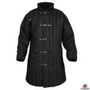 BLACK COLOR  Gambeson Medieval Armour with primum quality  Customer Sca