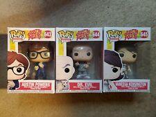 New listing 3 Austin Powers Funko Pops 643 Austin Powers 644 Dr. Evil 645 Vanessa Kensington