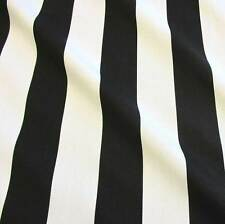 Stoff Meterware Baumwolle Blockstreifen schwarz weiß gestreift Vorhang Kanada