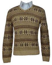 RALPH LAUREN PURPLE LABEL Cashmere Silk Beige V-Neck Sweater Size XXL RLS01