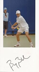 TENNIS* BYRON BLACK SIGNED 3x5 WHITECARD+UNSIGNED PHOTO+COA