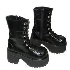 Rare Demonia Pleaser Ranger 301 Calf Platform Boots Lace Up Chunky Heel