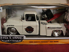 Jada 1955 Chevrolet stepside tow truck 1/24 scale NIB 2015 release Pearl white