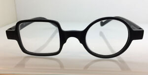 OCCHIALE OCCHIALI DA LETTURA VICINO TONDO QUADRO NERO BLACK READING GLASSES