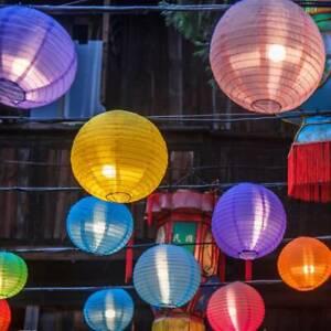 10 LED Moroccan Solar Garden String Lights Hanging Lantern Fairy Lights Outdoor